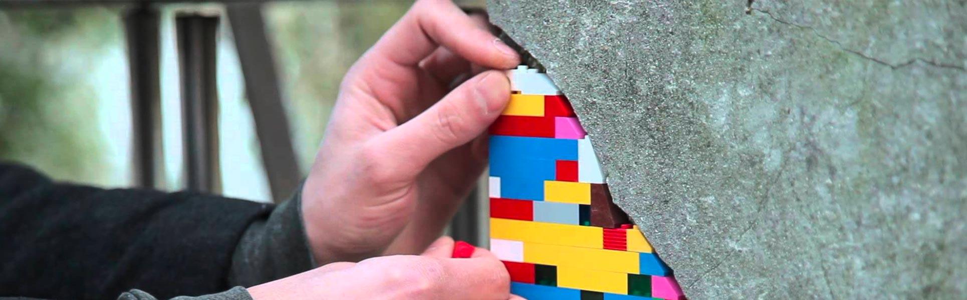Riparare le crepe nei muri è un'arte